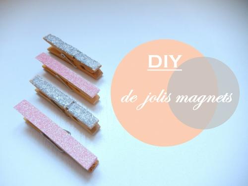 DIY de jolis magnets à paillettes