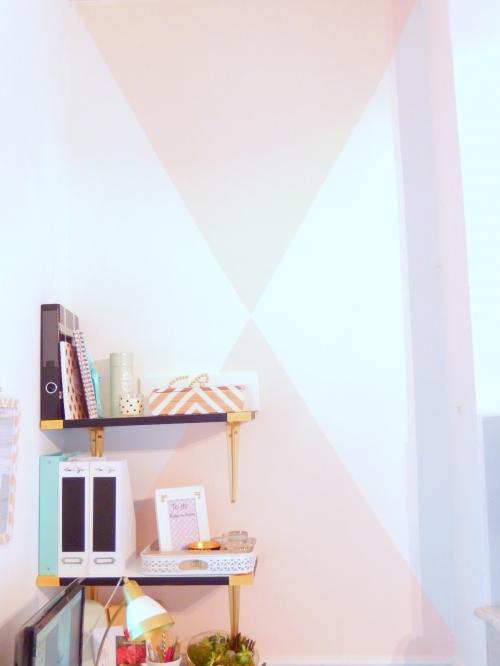 Deux triangles pour personnaliser un mur