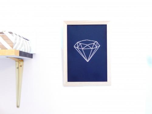 DIY une afiche diamant à broder