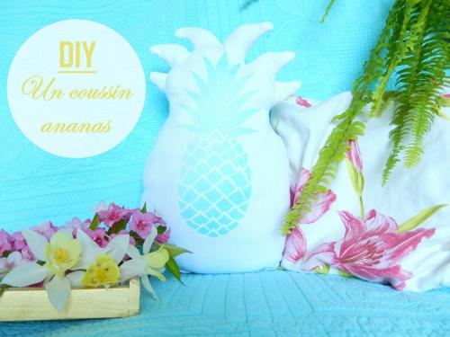 Récap de mai: DIY coussin ananas