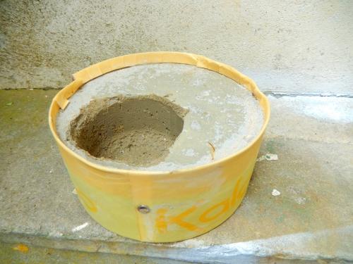 Pot en ciment