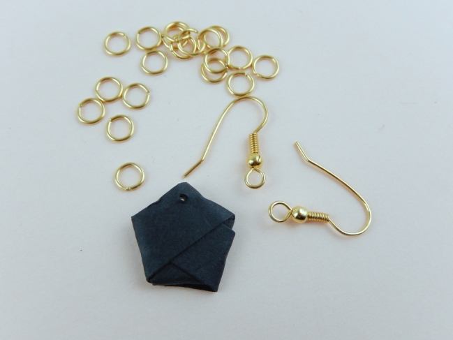 diy boucles d'oreille origami