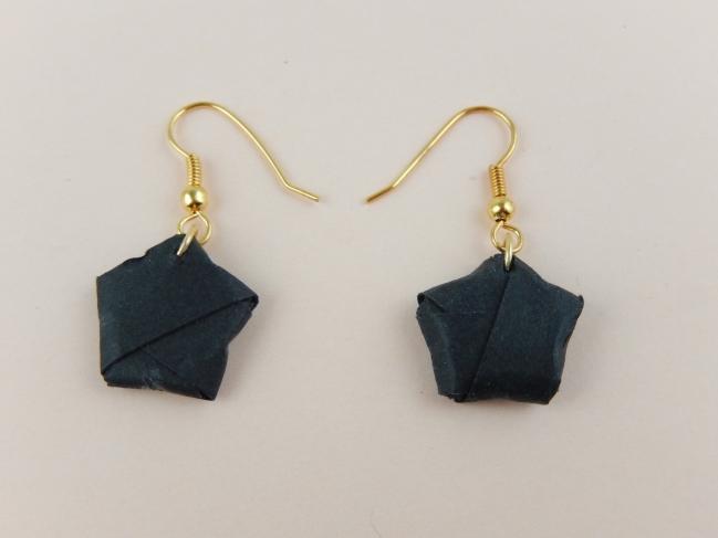 diy boucles d'oreille origami 2