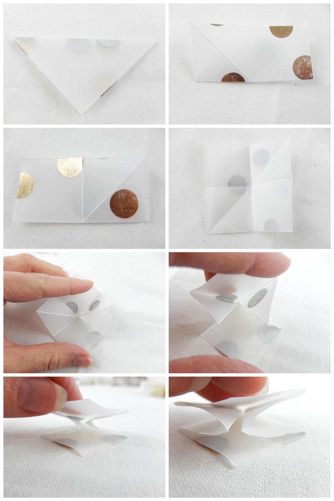 diy une étoile en origami 2