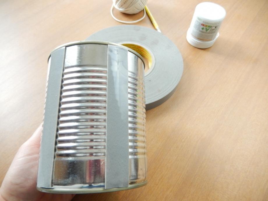 diy cache pot en ficelle et boite de conserve