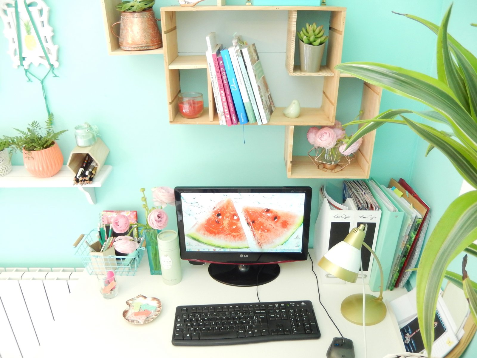 deco un bureau tropical