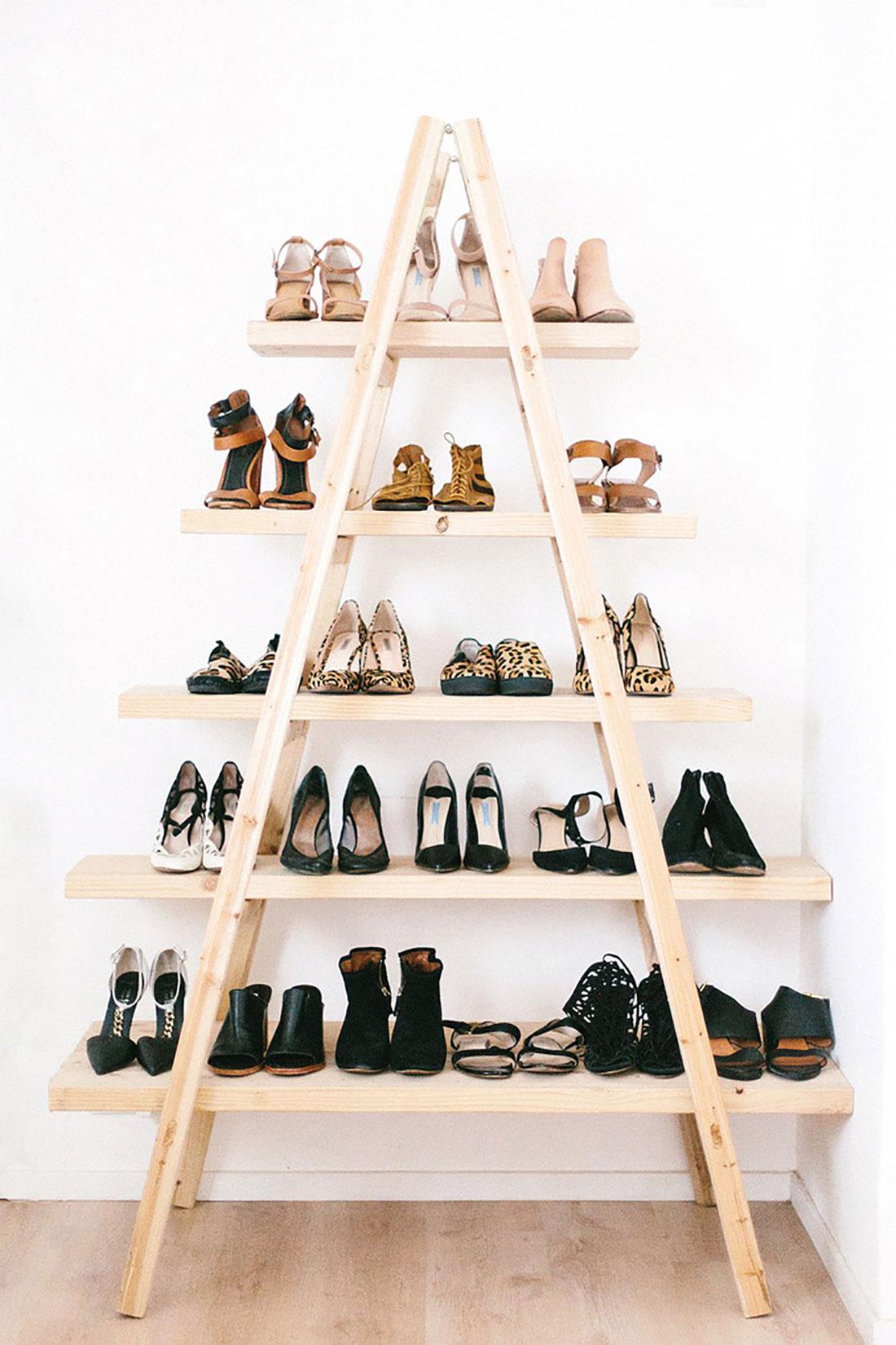 creer un dressing apartment-shoe-shelf