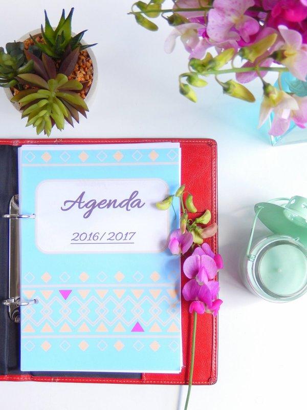 agenda 2016 / 2017 format a5 à imprimer gratuitement 1