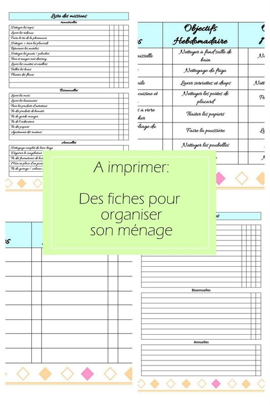 a imprimer un kit de fiches pour s 39 organiser mon carnet d co diy organisation id es rangement. Black Bedroom Furniture Sets. Home Design Ideas