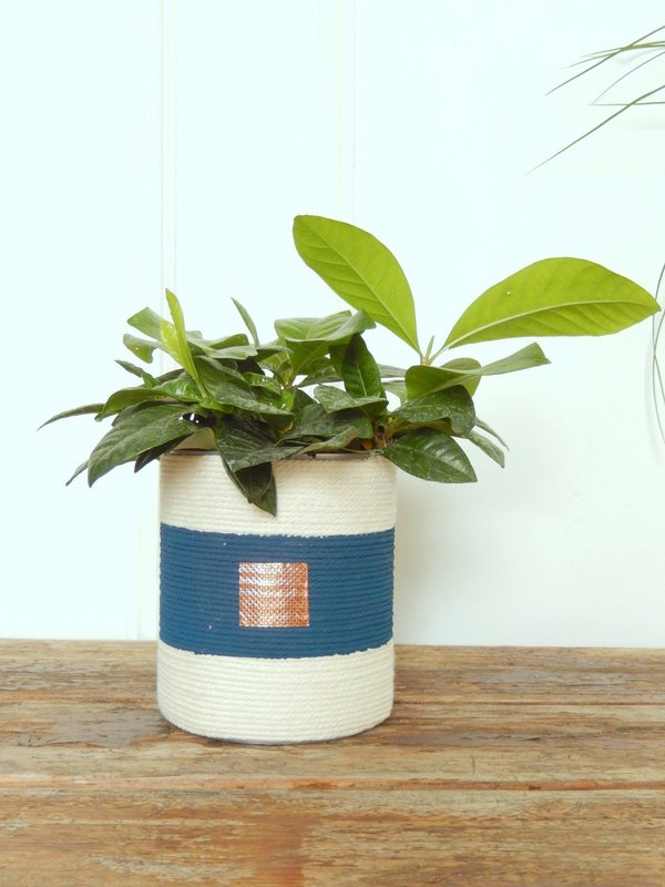 diy cache pot en corde