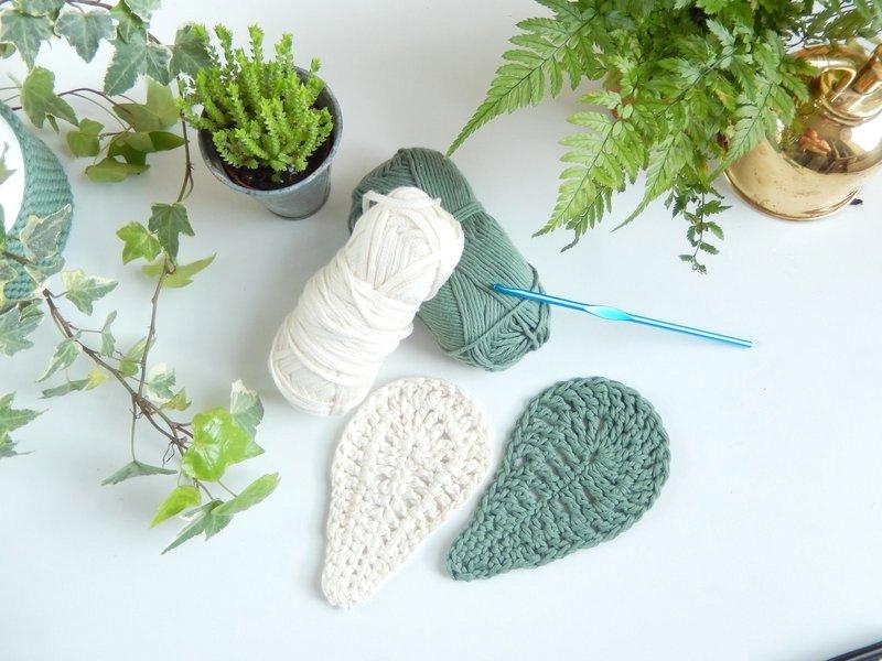 diy sous tasses feuilles au crochet 1