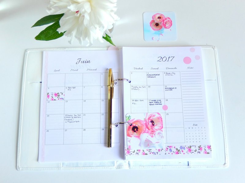 mi bullet journal mi planner l 39 agenda 2017 2018 imprimer gratuitement mon carnet d co diy. Black Bedroom Furniture Sets. Home Design Ideas