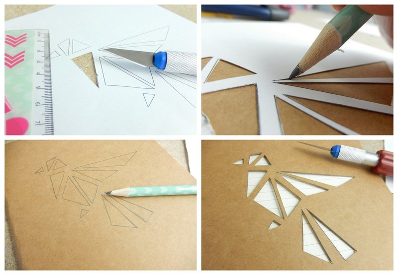 diy un carnet façon origami