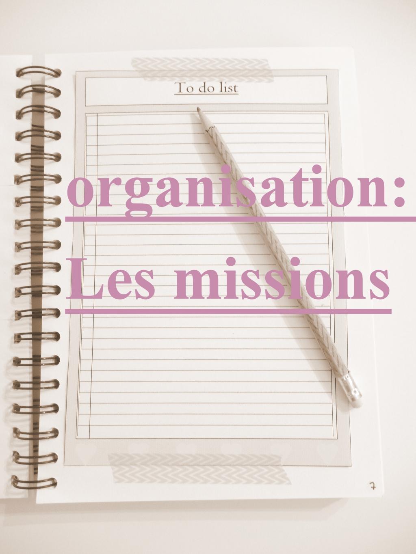 organisation les missions fiche imprimer mon carnet d co diy organisation id es rangement. Black Bedroom Furniture Sets. Home Design Ideas