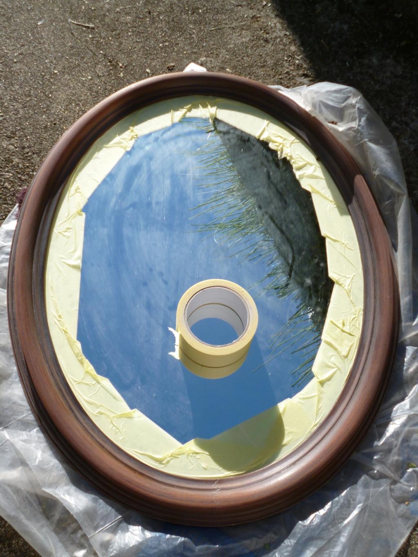 diy customiser un miroir classique en miroir romantique. Black Bedroom Furniture Sets. Home Design Ideas
