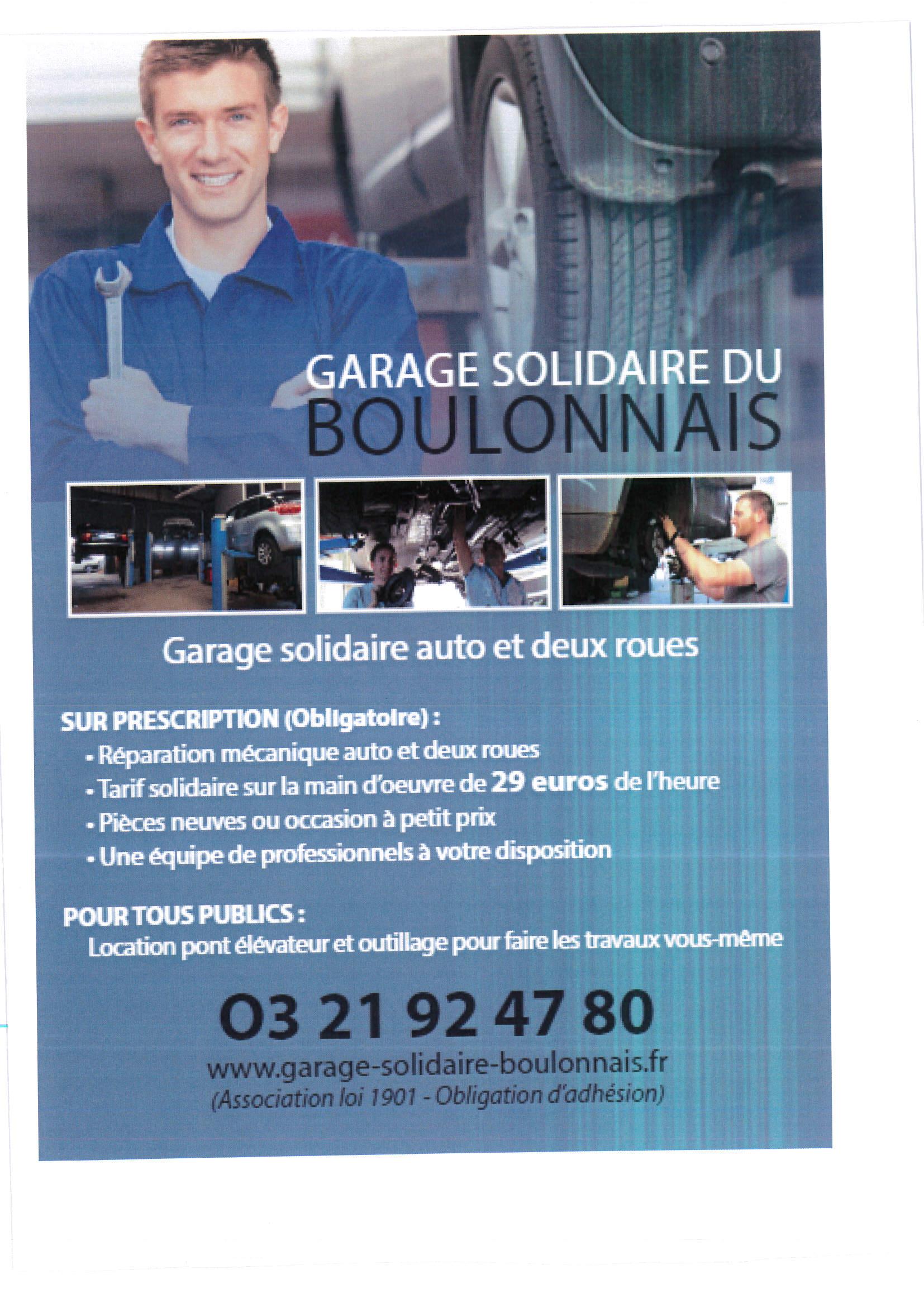 Pour info garage solidaire du boulonnais site officiel for Garage evrard calais