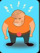 dessin homme en colère