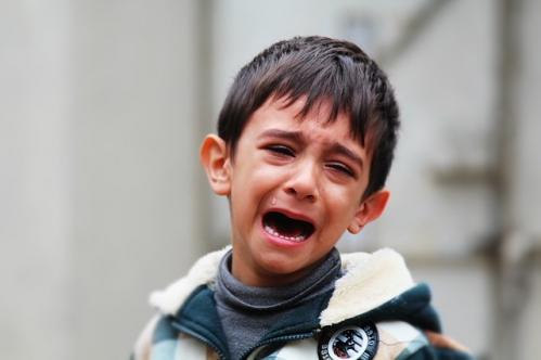 photo enfant pleurant