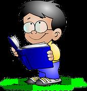 dessin garçon qui lit
