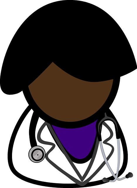 dessin femme noire  médecin