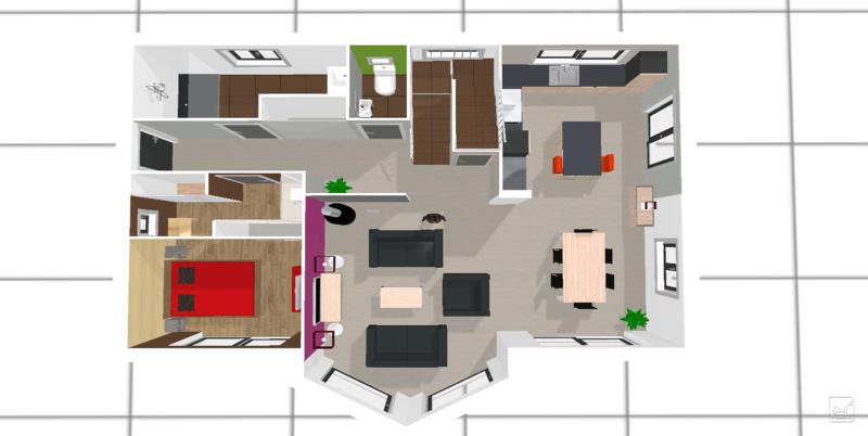 Petit point sur le choix des mat riaux implantation - Plan chambre parentale avec salle de bain ...