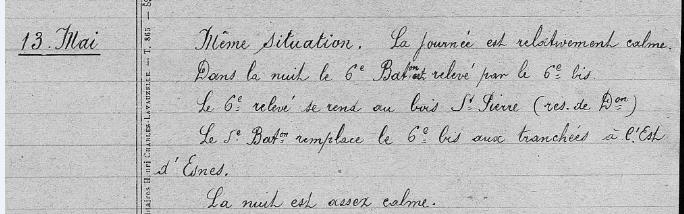 13 Mai 1916 journée et nuit assez calmes.PNG