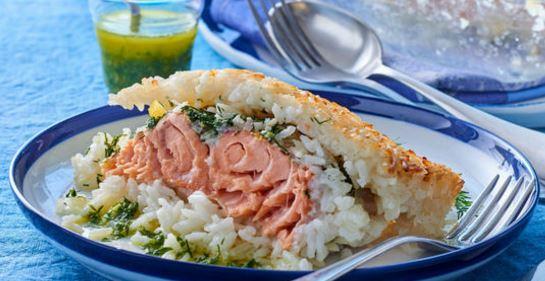 pavé de saumon en croute de riz.JPG