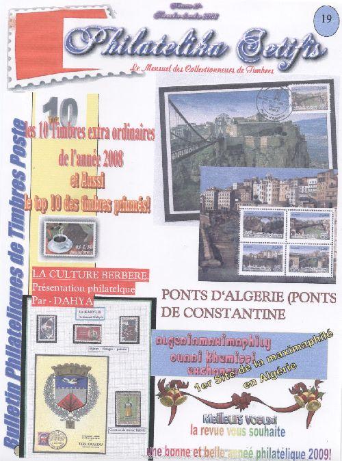 N°19  Nov/decembre 2008 Le nouveaux Nuémro de philatelika Setifis