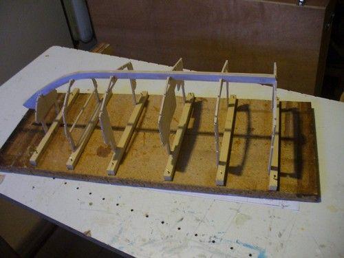 L'ossature en place sur le chantier