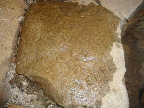 La roche gravée de Caldane