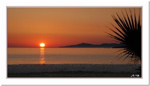 Coucher de Soleil à Calcatoggio (Corse)
