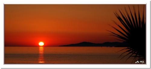 Couché de soleil sur Calcatoggio