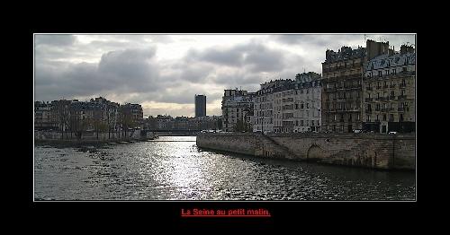 La Seine le matin