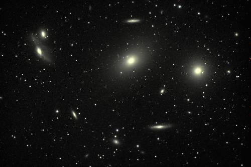 Amas de galaxies dans la constellation de la Vierge