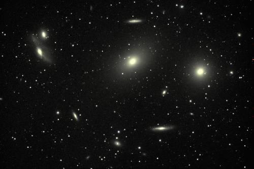 Amas de galaxies dans la constellation de la Vierge
