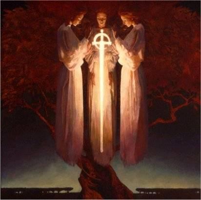 L'ange à l'épée flamboyante garde le Jardin d'Eden