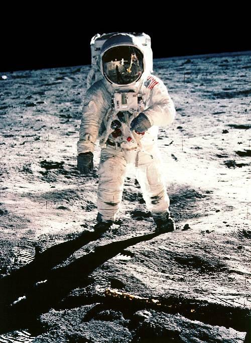 Aldrin le premier homme qui a marché sur la Lune