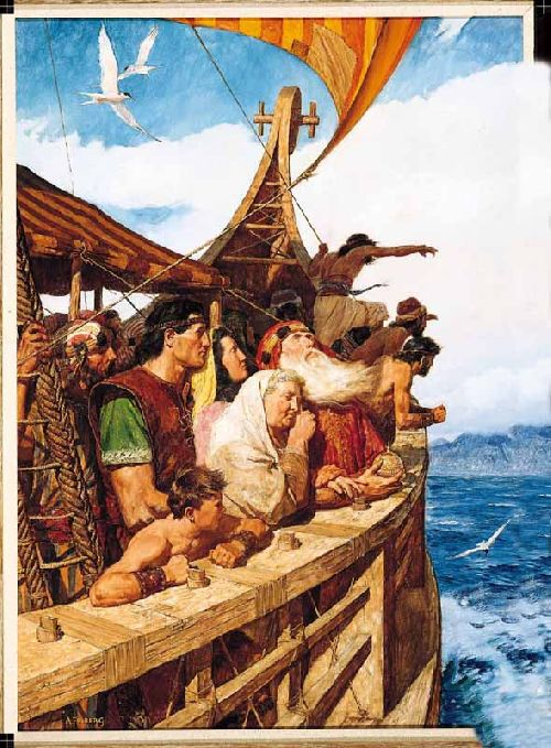 Léhi et son peuple arrivent a la Terre Promise - Sailing to the New World