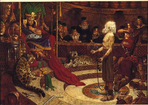 Abinadi remet son message au roi Noé