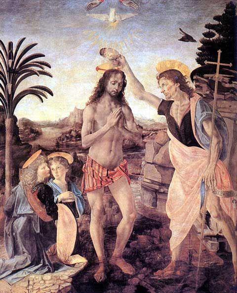 Le Baptême - Verrochio