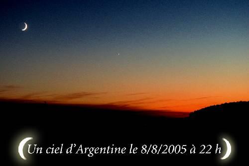 un ciel d'Argentine