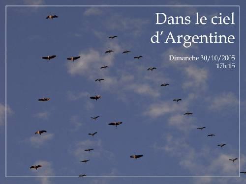 Dans le ciel d'Argentine