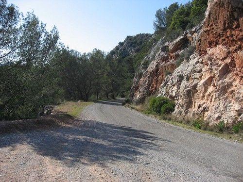...Par une jolie petite route peu fréquentée.