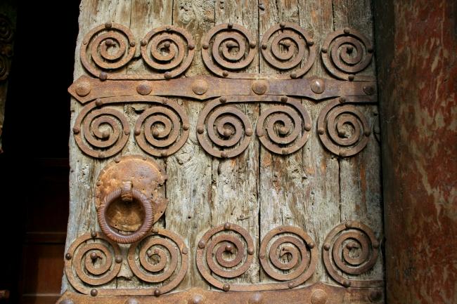 080716.39C Corneilla-de-Conflent (66)_église Ste-Marie porte.JPG