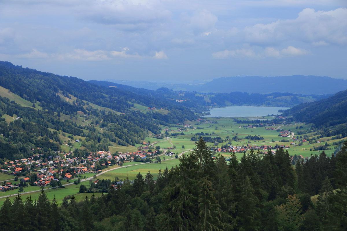 La vallée de l'Alpsee