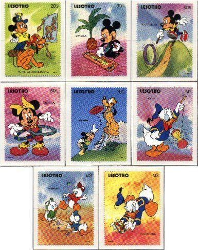 La super mouse joue aussi à l'awalé (timbre n°2)