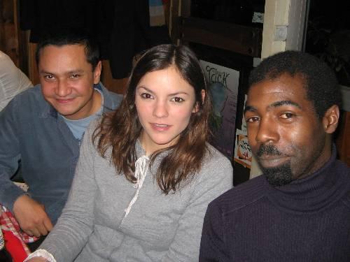Antoine (Guatémala), Laura (Chili), Julien l'ami de Mariela