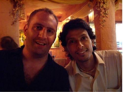 Esteban de Colombie avec son pote Julien!