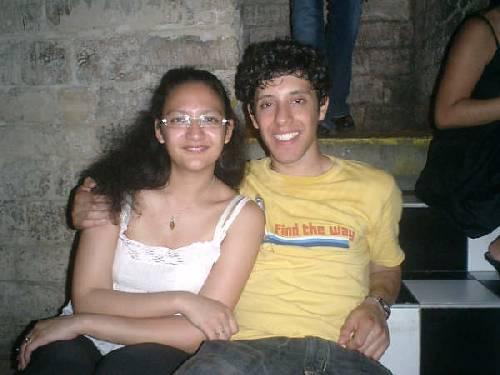 Nos deux colombiens, Cécile et Nico, se reposent apres une salsa endiablée...!!