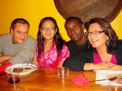 Antoine, Cécile, Giovanni et Anne-Marie